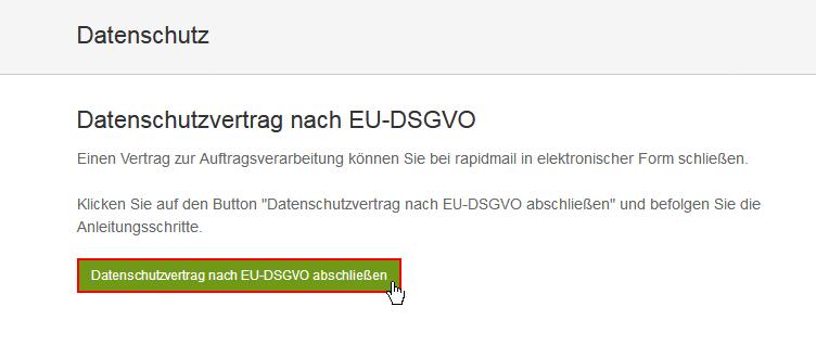 Rapidmail Wiki Datenschutzvertrag Nach Eu Dsgvo Abschließen